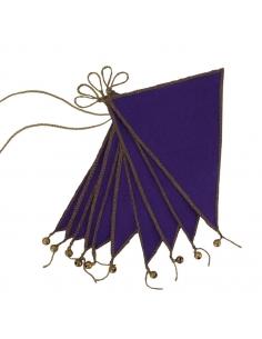 PURPLE - FLAG GARLAND