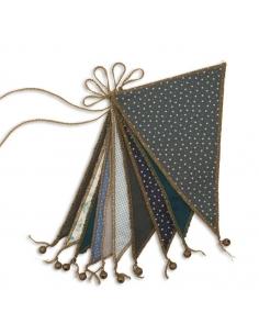 Guirlande de Fanions, Mélange de Verts & Bleus