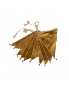Guirlande de Fanions velours, Gold