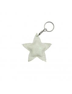 Porte-clés étoile, Blanc