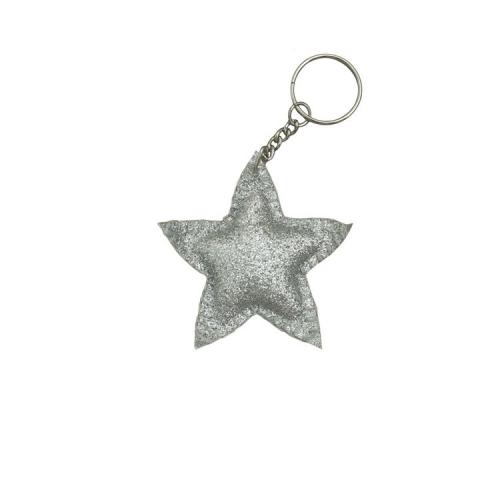 Porte-clés étoile, Gris argent