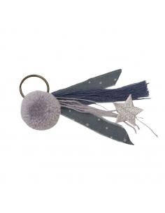 Porte-clés Pompon, Gris argent