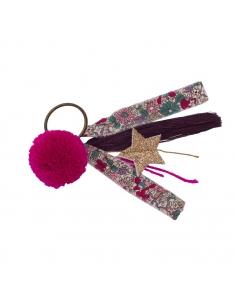Porte-clés Pompon, Rose baobab