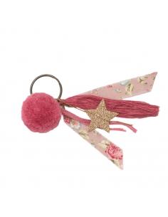 Porte-clés Pompon, Vieux rose