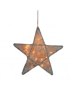 Lanterne étoile, Dentelle Gris argent