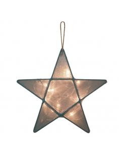 Lanterne étoile, Gris bleu