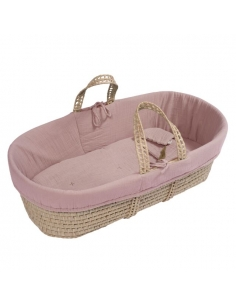 MOSES BASKET - DUSTY PINK