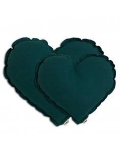 Coussin Cœur Vert