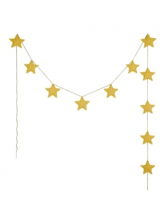 Guirlande étoiles - Numéro 74 - Jaune Tournesol