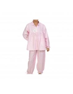 Pyjama Julie - Fleurs roses - Des Fils et des Nuits