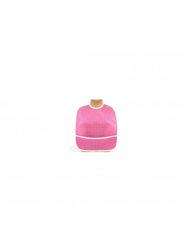 Bib in coated cotton - Blush pink dots - Des Fils et des Nuits