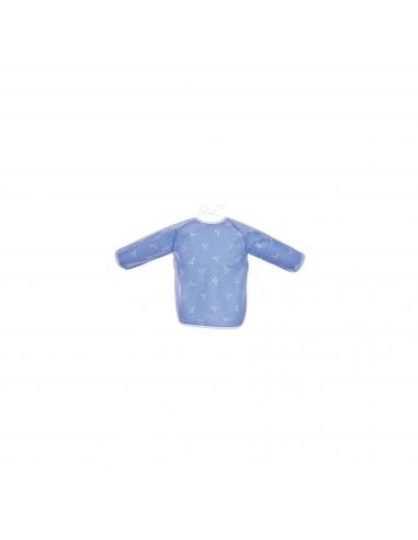 Bib sleeve in coated cotton - Dots birds - Des Fils et des Nuits