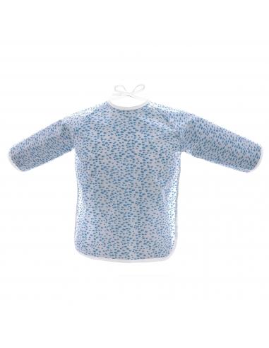 Bib sleeve in coated cotton - Fish - Des Fils et des Nuits