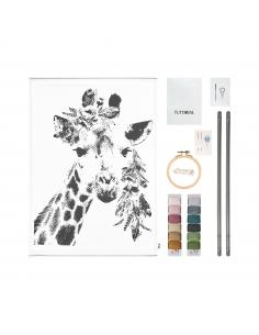Kit Girafe Broderie - Suspension murale - Numéro 74