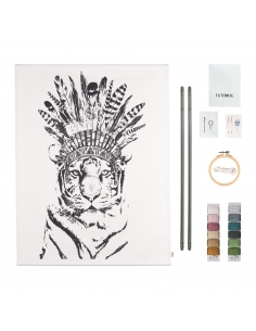 Kit Tigre broderie - suspension murale - Numéro 74